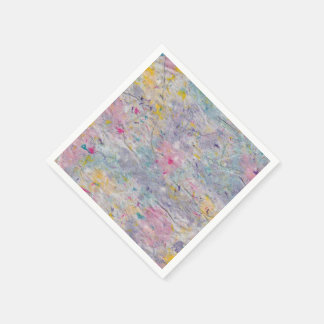 Homemade Paper with Colorful Pulp Accents Paper Napkin