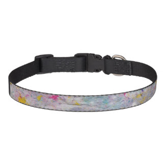 Homemade Paper with Colorful Pulp Accents Pet Collar