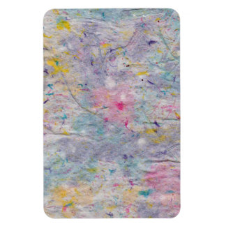 Homemade Paper with Colorful Pulp Accents Rectangular Photo Magnet
