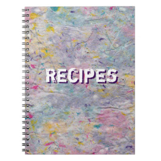 Homemade Paper with Colorful Pulp Accents Spiral Notebook