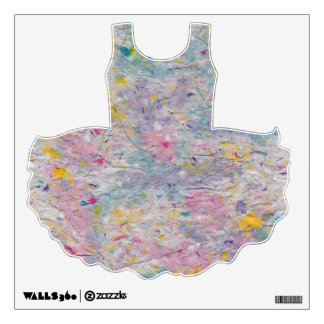 Homemade Paper with Colorful Pulp Ballet Tutu Wall Decal
