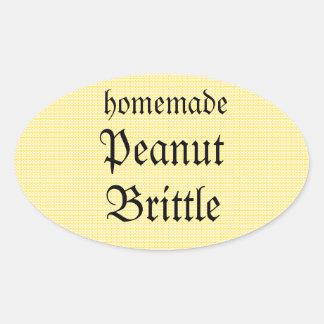 Homemade Peanut Brittle Yellow Stripe Jar Label