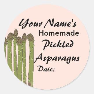 Homemade Pickles Canning Jar Lid Labels Asparagus