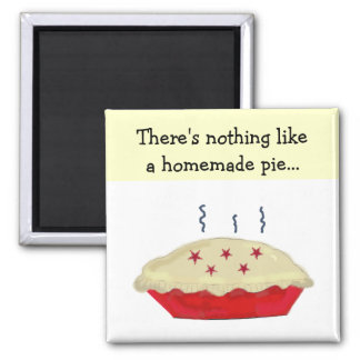 Homemade Pie 2 Inch Square Magnet