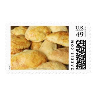 Homemade pierogi stuffed with sauerkraut. stamp