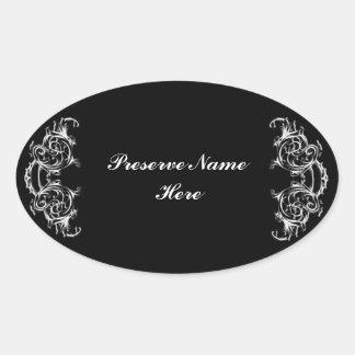 Homemade preserve vintage label- sticker template