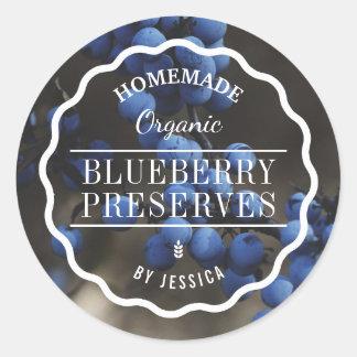 Homemade Preserves Blueberry Jam Kitchen Classic Round Sticker