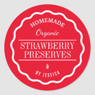 Homemade Preserves Jam Food Gift Kitchen Stickers