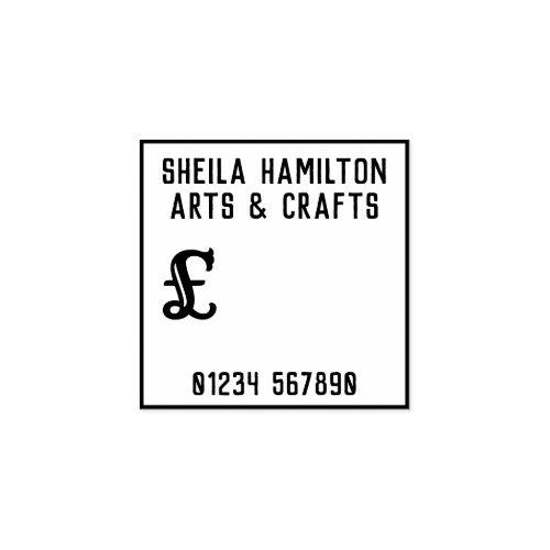 Homemade Price Label Rubber Stamp