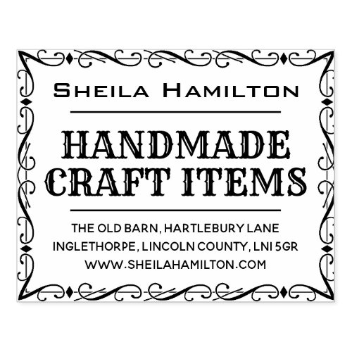 Homemade Products Label Rubber Stamp