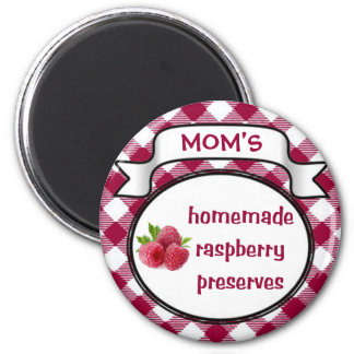 Homemade Raspberry Preserves 2 Inch Round Magnet