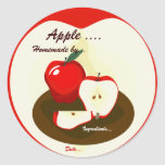Homemade Red Apple label Sticker
