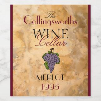 Homemade Red Merlot Wine Personalized Wine Bottle Wine Label