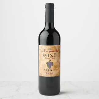 Homemade Red Merlot Wine Personalized Wine Bottle Wine Label