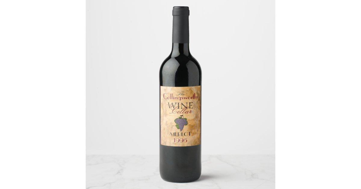 Homemade Red Merlot Wine Personalized Wine Bottle Wine Label Zazzle Com