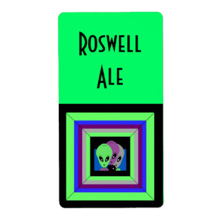 Homemade Roswell NM Beer Homebrew Brewing Label