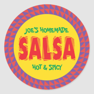 Homemade Salsa canning jar label