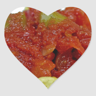 Homemade Salsa Heart Sticker