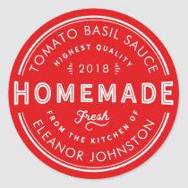 Homemade Sauce Label Custom Color and Text