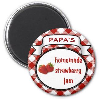 Homemade Strawberry Jam 2 Inch Round Magnet