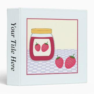 Homemade Strawberry Jam 3 Ring Binder