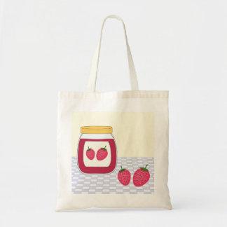 Homemade Strawberry Jam Tote Bag