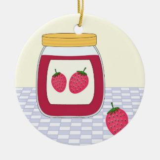 Homemade Strawberry Jam Ceramic Ornament