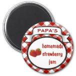 Homemade Strawberry Jam Fridge Magnets