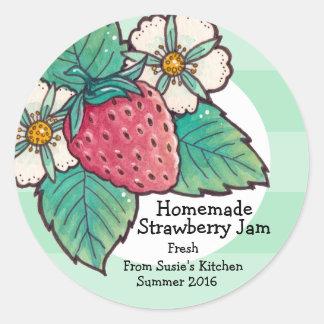 Homemade Strawberry Jam Sticker