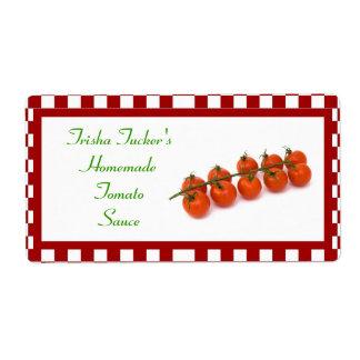Homemade Tomato Sauce Label