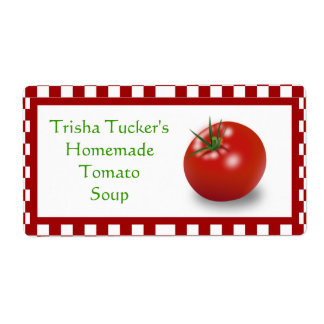 Homemade Tomato Soup Label
