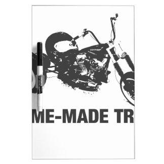 Homemade trike dry erase board