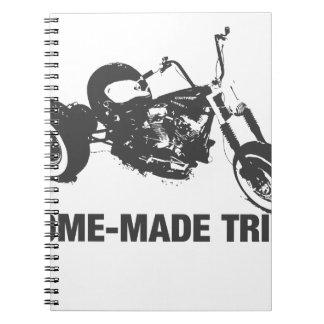 Homemade trike spiral notebook