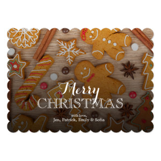 Homemade Various Christmas Gingerbread Cookies Card