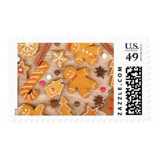 Homemade Various Christmas Gingerbread Cookies Postage Stamp