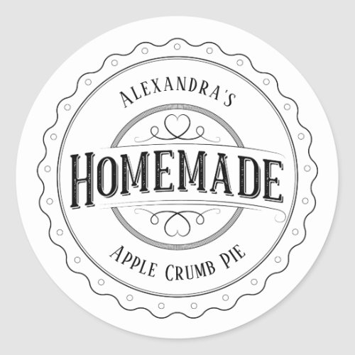 Homemade Vintage Personalized Label Stickers