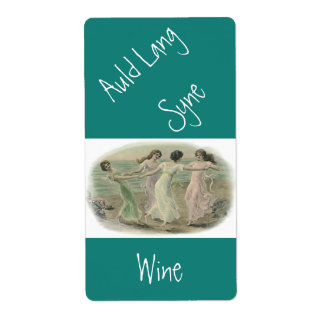 Homemade Wine Antique auld lang syne Label Friends