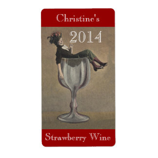 Homemade Wine Antique Fun Lady Labels Personalize