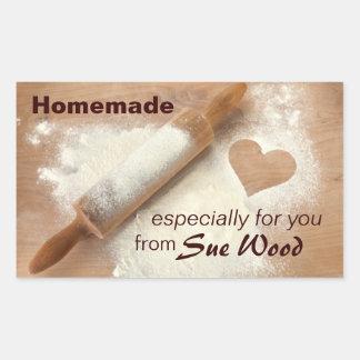 Homemade with Heart Custom Baking Stickers