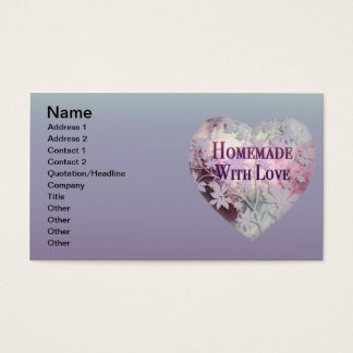 Homemade With Love Business cards (pinks)