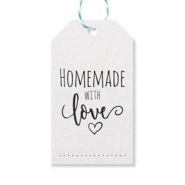 Professional Business Homemade with love gift tags