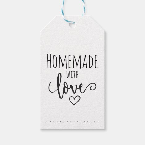 Homemade with love gift tags