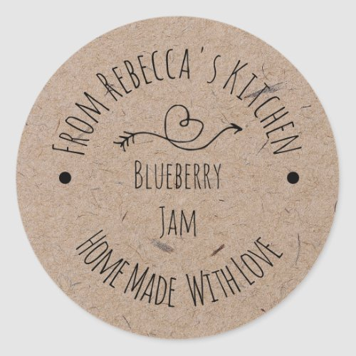 Homemade with Love Kraft Paper  Jam Canning Label