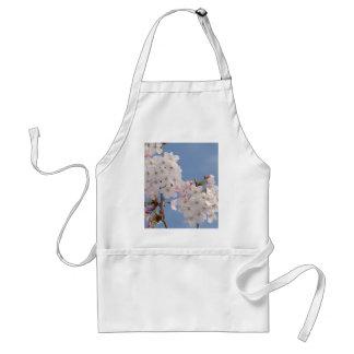 Homemade work of cherry tree bloom aprons