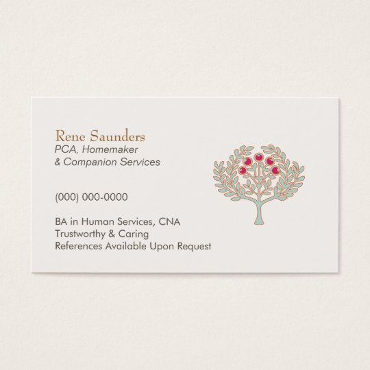 Homemaker and Companion Services Business Card