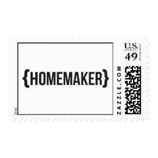 Homemaker  - Bracketed - Black and White Postage Stamp