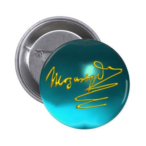 HOMENAJE A MOZART, aquamarine azul Pin