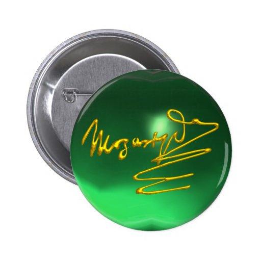 HOMENAJE A MOZART, verde de jade Chapa Redonda 5 Cm