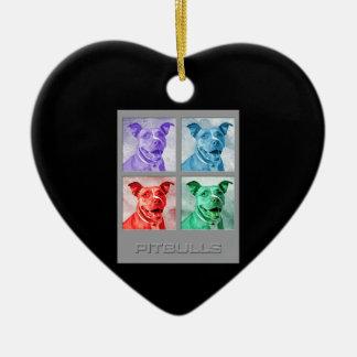 Homenaje a Warhol Pitbulls Ornamentos Para Reyes Magos