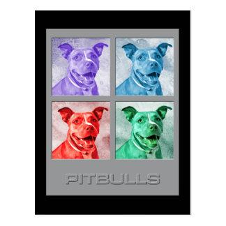Homenaje a Warhol Pitbulls Tarjetas Postales